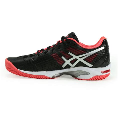 asics gel solution speed 3 clay womens tennis shoe black