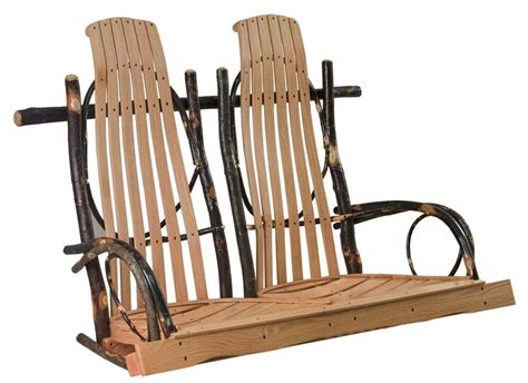 amish swings amish hickory double rocker style porch swing
