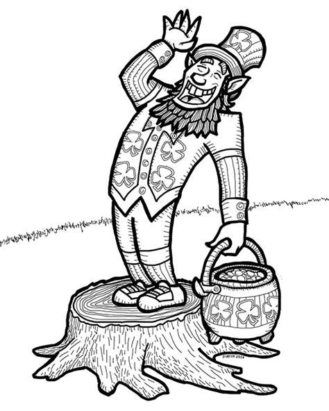 leprechaun coloring pages pdf leprechaun coloring page plus leprechaun facts and lore