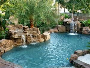 Cool Backyards With Pools Pool Waterfall Designs Gallery Creativerock Com Au