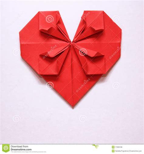 San Origami - scheda rossa di origami cuore di giorno biglietto