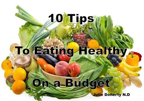 tips  eating healthy   budget