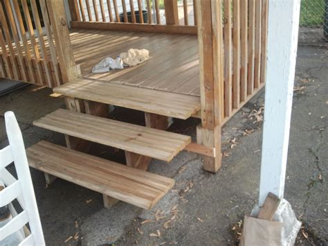 patio porch deck staining modifications steps added to deck nj