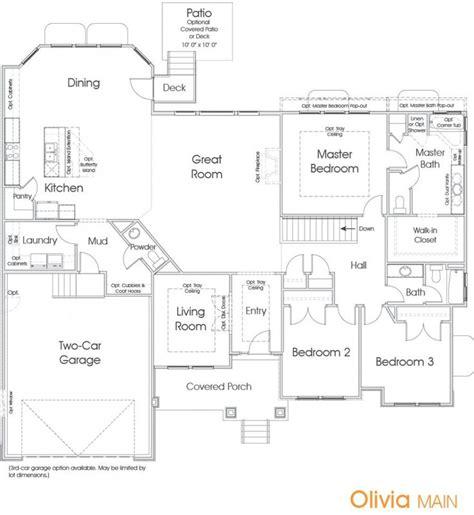 home floor plans utah olivia utah floor plan edge homes home dream homes