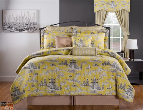 yellow black and grey comforter sets 10pc black taupe gray yellow asian garden design 100