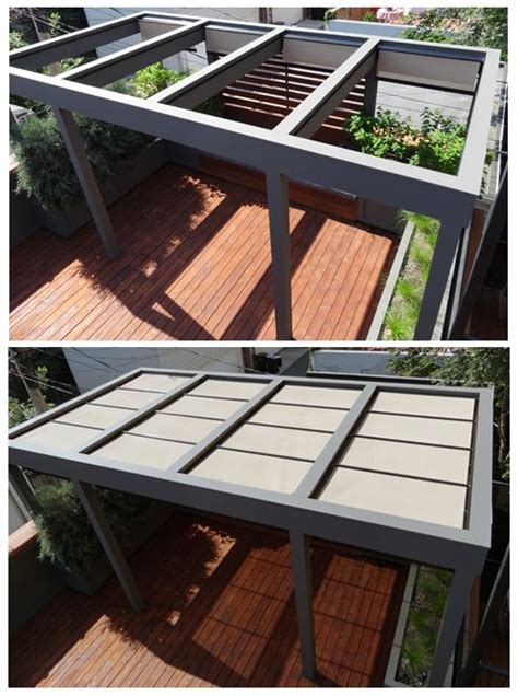 Retractable Deck Roof Roof Deck Pergola Garden Landscape Design