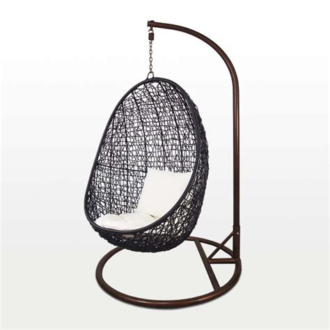 Swing Chair Singapore by Black Cocoon Swing Chair White Cushion Furniture Home