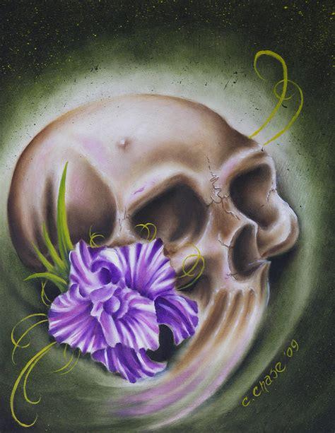 flower skull painting skull n flower chad skulls and skeletons