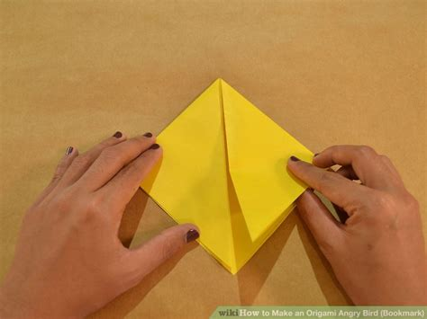 Angry Birds Origami - how to make an origami angry bird bookmark with pictures