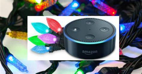 echo dot light control amazon echo dot alexa voice controlled indoor holiday