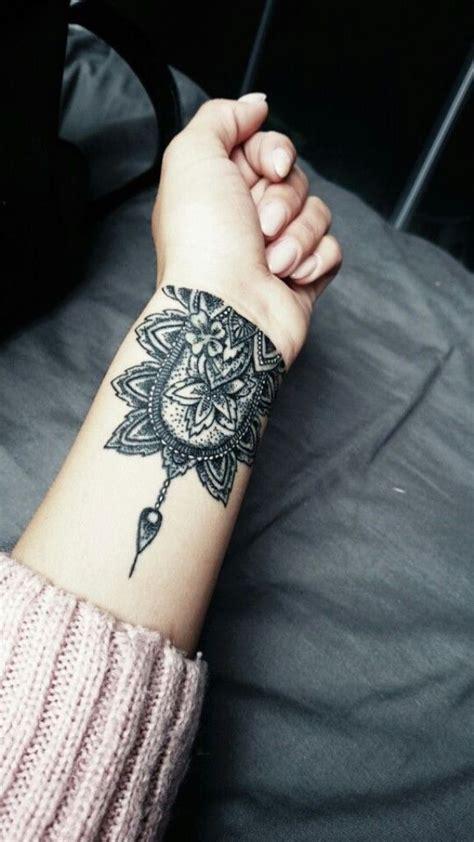 Mandala Tattoo Grey | 81 fantastic mandala wrist tattoos design