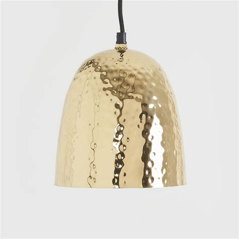 hammered pendant light hammered brass pendant light by horsfall wright