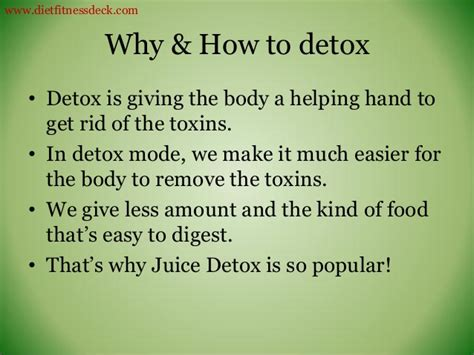 How Many Days Does It Take To Detox by Cleanse And Detox What How And Why