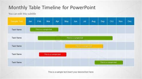 Monthly Timeline Slide Design for PowerPoint   SlideModel