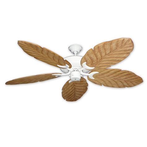 White Leaf Ceiling Fan by Raindance White 100 Series Ceiling Fan Real Wood