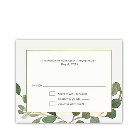 wedding guest rsvp card templates wedding rsvp cards archives noted occasions unique and