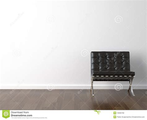 Classic Home Floor Plans Black Chair On White Wall Stock Photo Image 10606790