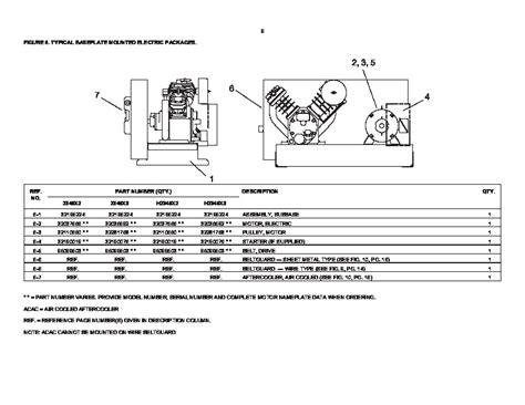 ingersoll rand t30 2340 two stage air compressor parts list manual
