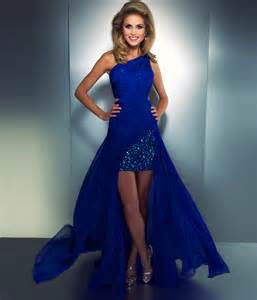 royal blue high low prom dress beauty pinterest