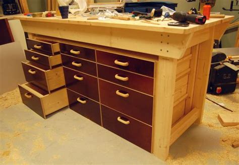 work bench with drawers woodwork workbench drawers plans pdf plans
