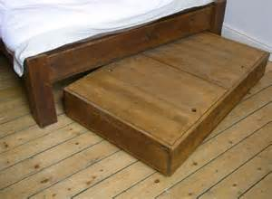 chunky reclaimed wood bed storage traditional