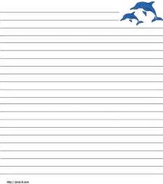 ocean writing paper ocean animals free printable stationery for kids primary ocean themed writing paper lots of sea creatures 1 in