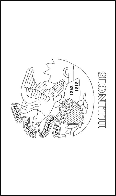 maine state flag coloring page free coloring pages