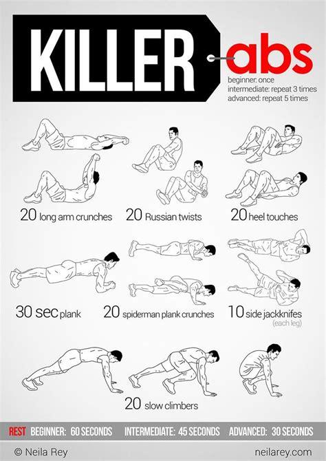killer abs killer ab workouts  ab workouts  pinterest