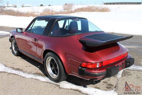porsche velvet 1989 porsche 911 targa g50 velvet red 86 075 miles no