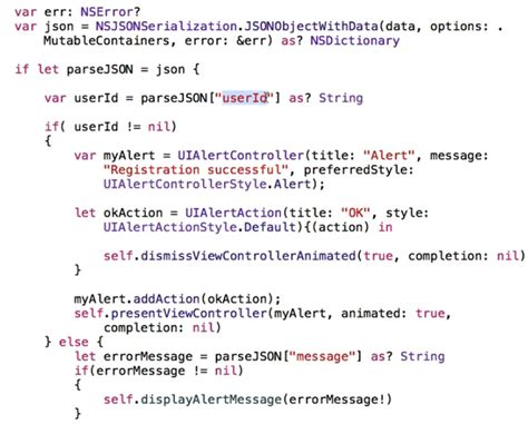 ci smarty tutorial errors while converting json and http quot post quot code to swift