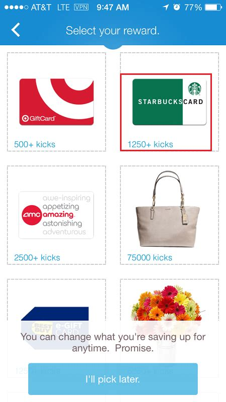 Shopkick Gift Card Values - how to redeem shopkick kicks for a gift card