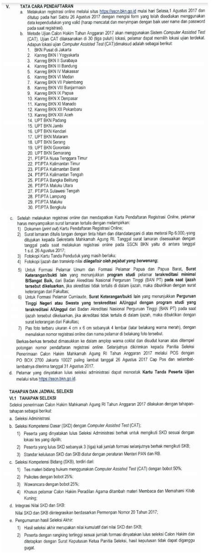 penerimaan cpns mahkamah agung republik indonesia tahun 2017 lowongan