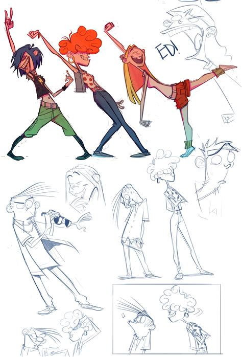 Gitar Motif Paladin ed edd and eddy character design references www characterdesignreferences