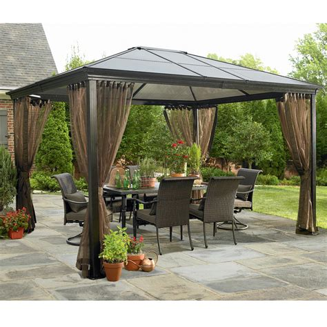 Hardtop Patio Gazebo Beautiful Patio Gazebos 13 Sears Hardtop Gazebo Bloggerluv