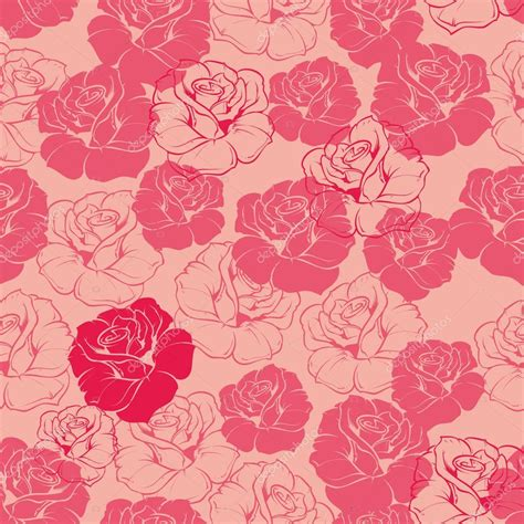 cute vintage pattern background seamless vector pink and red floral pattern background or