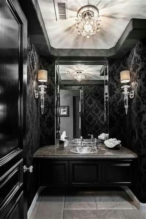 black and white bathroom paint ideas gallery 19 ways to go wild with powder room lighting baroque