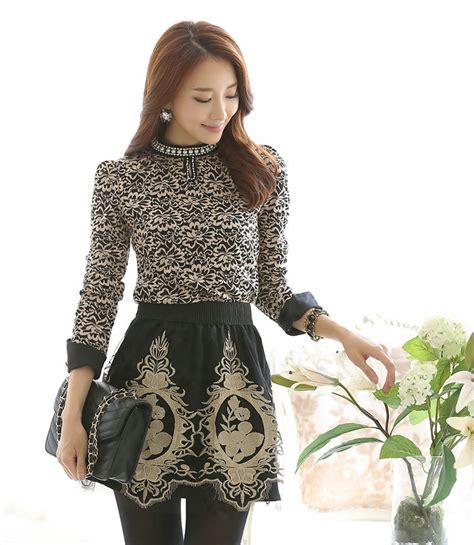 2014 wholesale new style blouse fashion vintage pattern