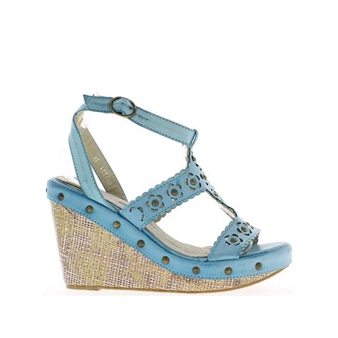 Wedges Lingkaran 3cm blue wedge sandals heels 11 cm and 3 5 cm tray chaussmoi