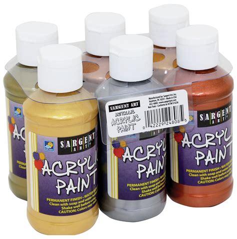 is 101 acrylic paint toxic sargent metallic acrylic paint set 6 pack sargent