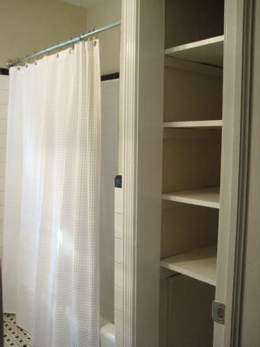 Bathroom Linen Closet Doors Take The Door Your Bathroom Linen Closet For A Chic And Open Feeling
