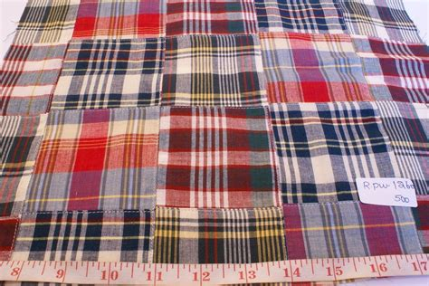 Patchwork Madras Fabric - patchwork madras fabric plaid fabric linen fabric