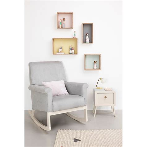 Olli Ella Ro Ki Rocker Nursery Chair In Dove Grey Nursery Rocking Chair Uk