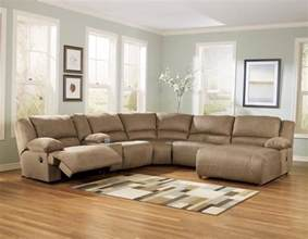 buy mocha 6pc reclining sectional chaise by