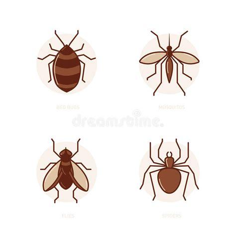 insetti letto insetti di letto zanzare mosche ragni illustrazione