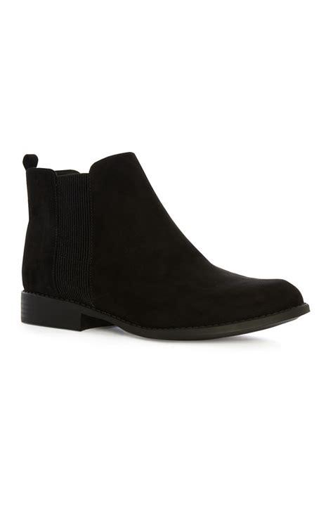 marvelous black flat ankle boots by primark primark