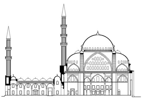 Mosque Drawing by Mosque Easy Pencil And In Color Mosque Easy