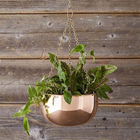 hanging copper planter williams sonoma