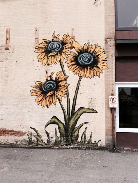Sunflower Wall Murals 55 best images about street art flowers on pinterest