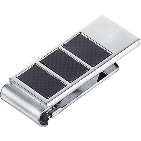 Carbon Fiber Stainless Steel visol lowden carbon fiber stainless steel money clip vmc732 the home depot