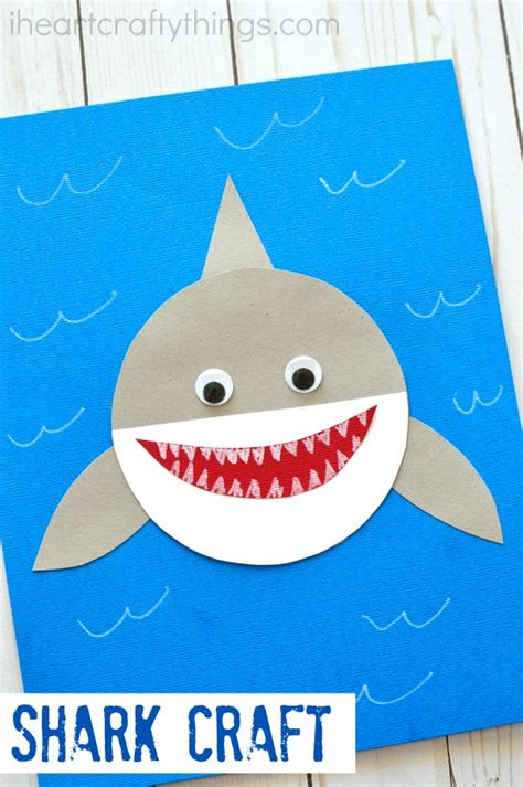 easy shark crafts for shark week simple paper shark craft i crafty things